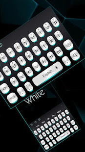 Black White Light Keyboard
