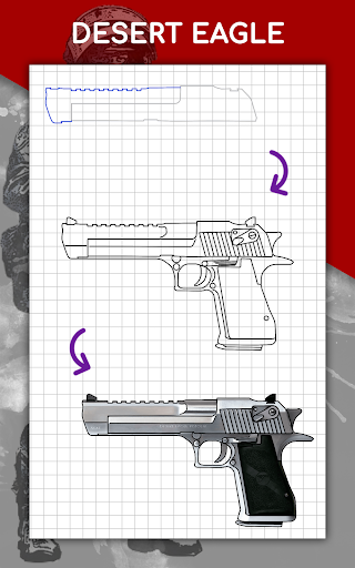 How to draw weapons step by step, drawing lessons  screenshots 23