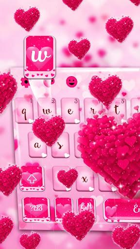 love heart keyboard theme screenshot 2