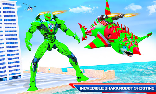 Robot Shark Attack: Transform Robot Shark Games apkpoly screenshots 4