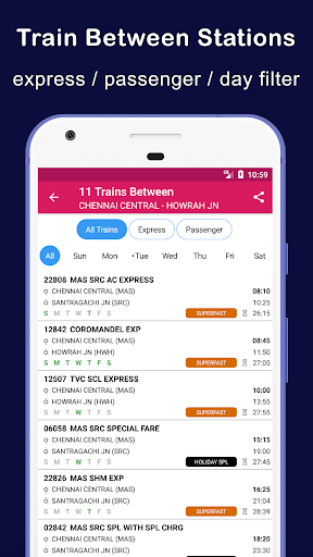 Indian Railway Train Status : Where is my Train 10.94 Screenshots 5