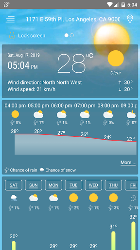 Weather u2014 Live Weather Forecast & Weather Widget  screenshots 1