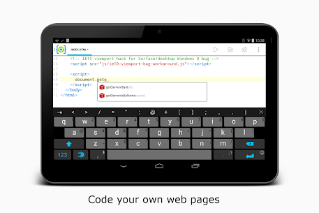 AIDE Web – Html,Css,JavaScript (MOD APK, Plus) v1.0.200803 4