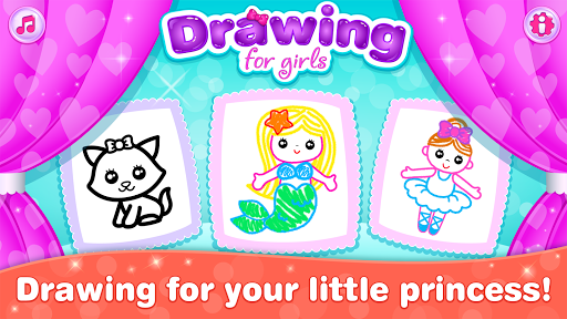 Kids Drawing Games for Girls 🎀 Apps for Toddlers!  screenshots 1