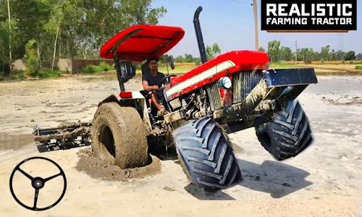 Village Tractor Driving Simulator Farming Games 3d  APK MOD (Astuce) screenshots 1