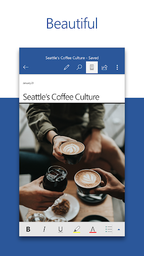 Microsoft Word Write Edit Share Docs on the Go