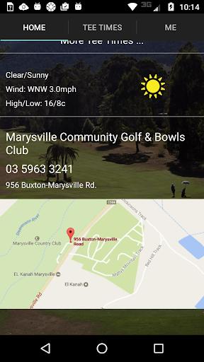 marysville golf tee times screenshot 2