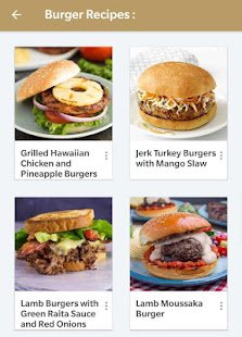 Burger Recipes Offline