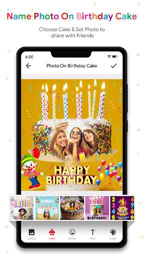 Name Photo On Birthday Cake - Birthday Photo Frame  screenshots 4