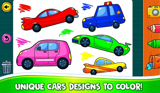ud83dude97 Learn Coloring & Drawing Car Games for Kids  ud83cudfa8 7.0 screenshots 3