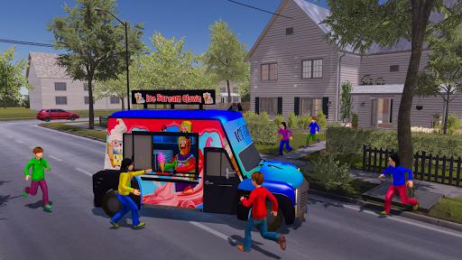Crazy Ice Scream Clown:Freaky Clown Horor Neighbor  screenshots 1