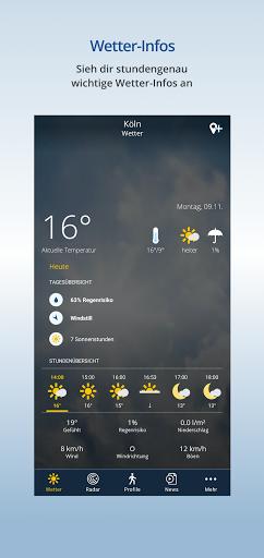 wetter.de u2013 Dein Wetter, immer & u00fcberall android2mod screenshots 2