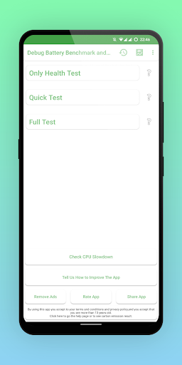 Battery Benchmark and Battery Health  screenshots 1