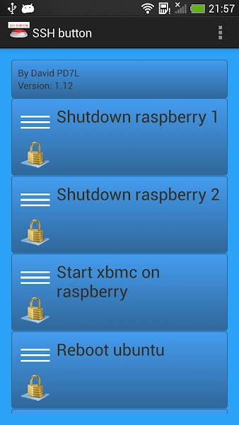 SSH button