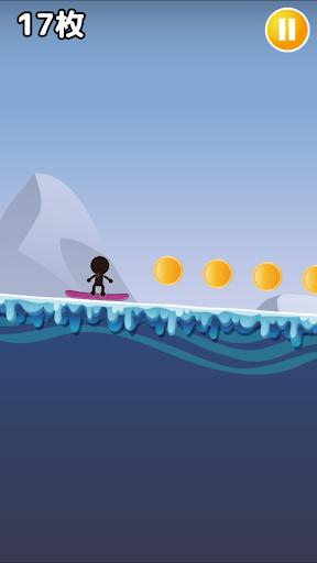 棒人間がスノーボード-超爽快滑り- 1.0 screenshots 2