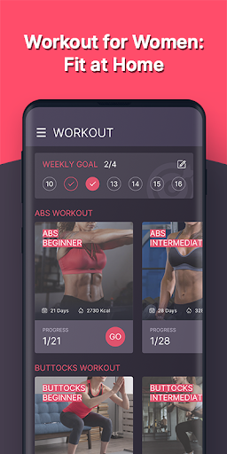 Workout for Women: Fit at Home  screenshots 1