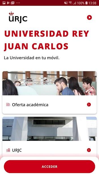 Captura de Pantalla 2 de URJC App Univ. Rey Juan Carlos para android