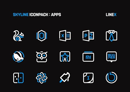 SkyLine Icon Pack : LineX Blue Edition 3.1 (Patched)