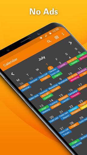 Simple Calendar - Easy Schedule & Agenda Planner  screenshots 1