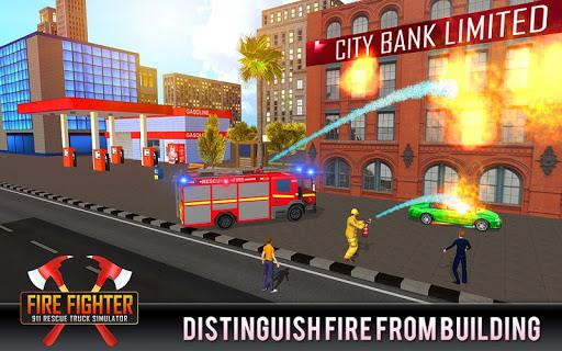 Télécharger Gratuit Firefighter Truck 911 Rescue: Emergency Driving APK MOD (Astuce) screenshots 1