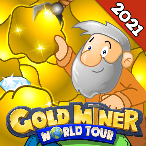 Gold Miner World Tour: Gold Rush Puzzle RPG Game