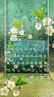 Summer Rain Waterdrop Keyboard Theme