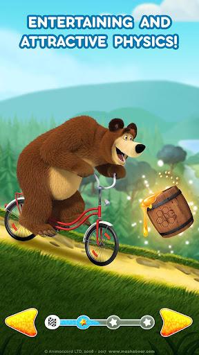 Masha and the Bear: Climb Racing and Car Games apkslow screenshots 7
