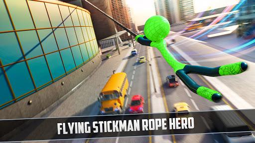 Rope Hero 2021: Stickman Rope Hero City Crime screenshots 2