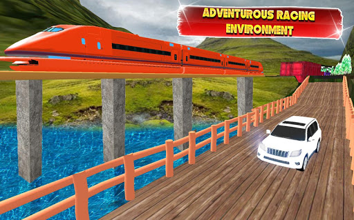 Train vs Prado Racing 3D: Advance Racing Revival apklade screenshots 2
