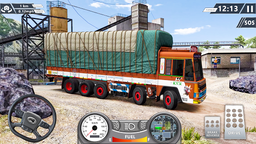 Real Mountain Cargo Truck Uphill Drive Simulator apktram screenshots 3