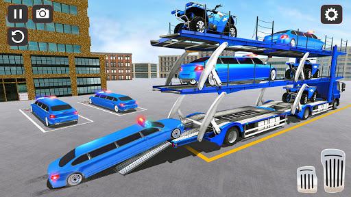 USA Police Car Transporter Games: Airplane Games apktram screenshots 12