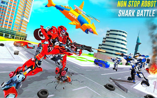 Robot Shark Attack: Transform Robot Shark Games 24 screenshots 8