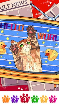 Cat coloring games-Offline paint by numberのおすすめ画像4