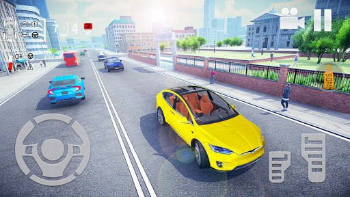 Electric Car Simulator 2021: City Driving Model X Apkfinish screenshots 13