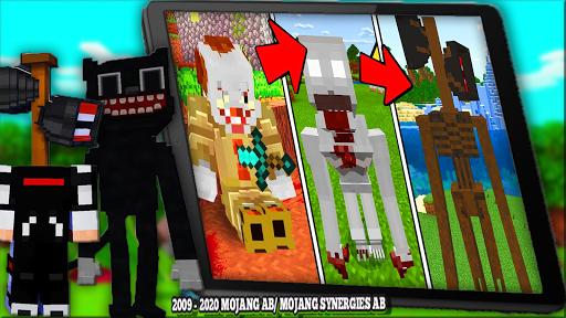 Horror Cartoon Cat Mod For MCPE & Siren Head 2021  screenshots 7
