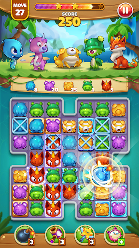 Pekoblast Master - Match 3 Pet Blast apkmartins screenshots 1