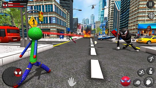 Stickman Rope Hero – Amazing Spider Crime City Game Hack Android and iOS 4