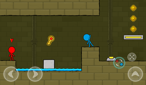 Red and Blue Stickman : Animation Parkour 1.0.6 screenshots 18