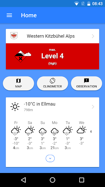 SnowSafe - Avalanche Forecasts