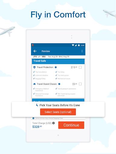 CheapOair: Cheap Flights, Cheap Hotels Booking App 3.20.18 Screenshots 16