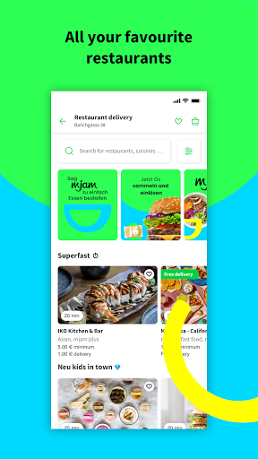 mjam – Delivery Service for food, groceries & more screenshots 2