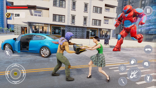 Flying Police Monster Robot Rope Hero: Crime City  screenshots 15