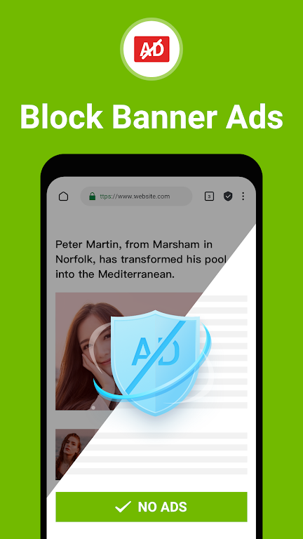 Free Adblocker Browser - Adblock & Private Browser  poster 1