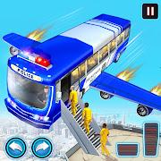 Flying Police Bus Prisoner Transport: Driving Game