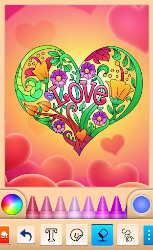 Valentines love coloring book  screenshots 2