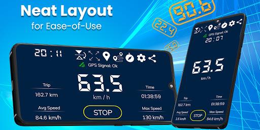 Digital Speedometer - GPS Offline odometer HUD Pro 3.5.7 Screenshots 1