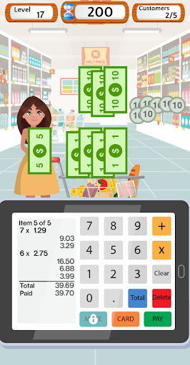 Supermarket Cashier Simulator - Money Math Game screenshots 8