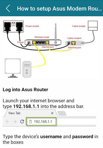 Screenshot 2 de Asus Modem Router Guide para android
