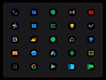 OneUI 3 Black – Icon Pack APK (PAID) Download 2