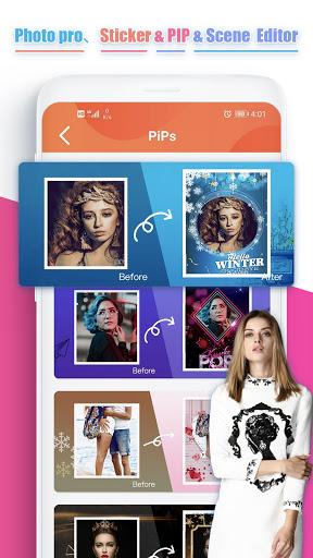 Photo pro、Sticker & PIP & Scene  Editor